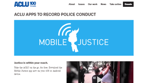 ACLU Mobile Justice apps
