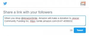 AmazonSmile custom tweet