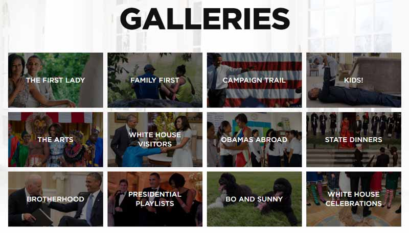 Obama Foundation site uses 86 photos