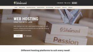 SiteGround nonprofit web hosting