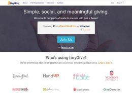 tinyGive nonprofit fundraising
