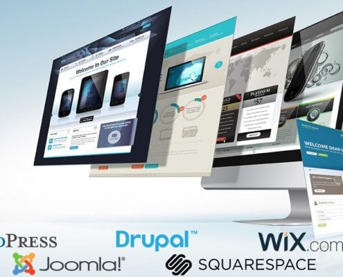 WordPress, Joomla, Drupal, Wix, Squarespace, Weebly