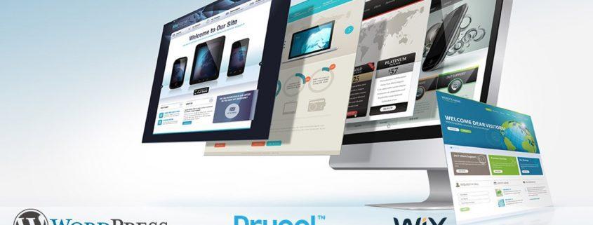 WordPress, Joomla, Drupal, Wix, Squarespace, Weebly