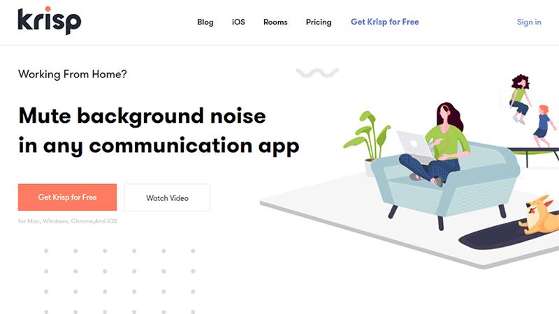 Krisp.ai homepage